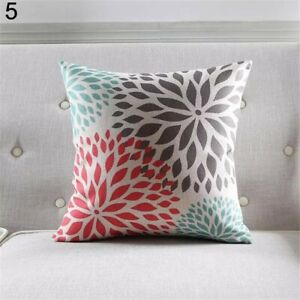 Colourful Flower Petals Decorative Pillows Cushion Cover Use For Home Car Room
