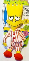 "The SIMPSONS 1990 BART SIMPSON  ""PAJAMA BAG   WITH ZIPPER-BACK PAJAMA POUCH"