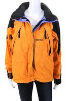 Marmot  Womens Zip Up Hooded Jacket Orange Black Size Small