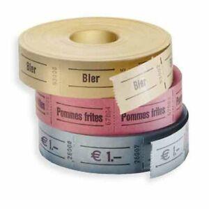 Wertmarken, verschiedene Standardaufdrucke, 6 Farben, 1.000 Abrisse NEU