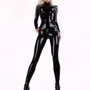 Lady Wet Look Jumpsuit Faux Latex Bodysuit Costume Catsuit Party Club Sexy Slim
