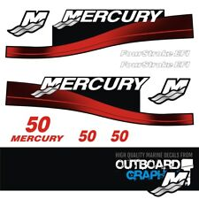 Mercury 50hp four stroke EFI outboard decals/sticker kit