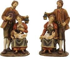 Krippenfiguren Krippenblock Heilige Familie im Set in der Größe 20cm