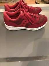 Saucony Jazz Pink Glitter Girls Shoes Size 3
