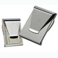 Newest Slim Steel Money Clip Double Sided Credit Card Holder Wallet Portable