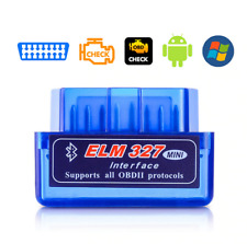 OBD2 Mini ELM327 Bluetooth Adapter Auto Kompatibel mit Android, Windows
