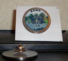 HM Armed Forces Royal Electrical Mechanical Engineers Veteran lapel pin badge .