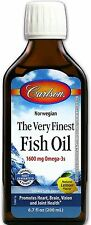 Carlson Labs The Very Finest Fish Oil, Lemon Flavored 6.70 oz (Pack of 3)