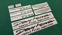 Triumph Daytona T595 Triple graphics set decals stickers replacements any colour