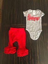 Nebraska Husker 6 Month Outfit