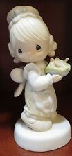Precious Moments THERE IS JOY IN SERVING JESUS 1982 Enesco E7157 Olive NOS