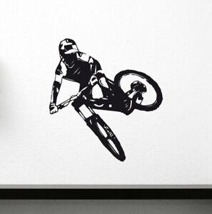 Wandaufkleber Downhill Mountainbike MTB Freeride Fahrrad Kinderzimmer Wohnzimmer