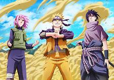 Poster A3 Naruto Shippuden Grupo 7 Naruto Sasuke Sakura