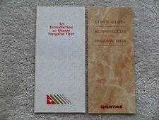 Lot of 2 Qantas Frequent Flyer Brochures =