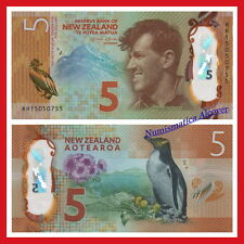 NUEVA ZELANDA NEW ZEALAND 5 dollars 2015 POLYMER Pick NEW  SC /  UNC