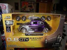 Jada 1/24 Dub city 1959 volkswagen beetle purple / silver Kit NIB