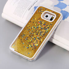 Cool Liquid Glitter Star Hard Back Case Phone Cover Skin For Samsung Galaxy S6