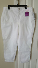 Women's Lane Bryant Genius Fit Skinny jeans size 20 white