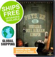 Hoosiers / Bull Durham / Kingpin (DVD, 2009, 3-Disc) NEW, Phys Ed 101, Triple