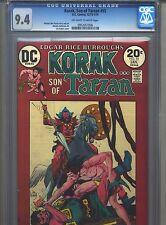 Korak Son of Tarzan #55 CGC 9.4 (1974) DC Comics Only 3 Copies Higher