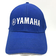 Yamaha Blue Baseball Cap Hat Adjustable Hook and Loop Sandwich Brim