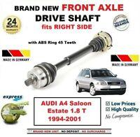 Pour Audi A4 Berline Break 1.8 T 1994-2001 Tout Neuf Essieu avant Droit Arbre
