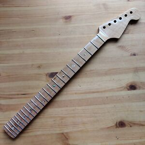 New One Piece Gloss Roasted Maple Strat Stratocaster Style Neck Skunk Stripe