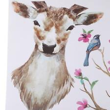 DIY Sika Deer Head Flowers Wall Stickers Art Vinyl Wall Decals For Home Decor J