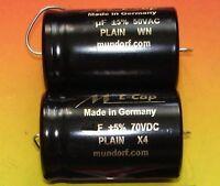 2x MUNDORF Elko glatt 6,8µf 70VDC Audio Kondensator 1 pair capacitor