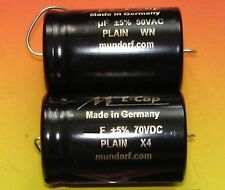 2x MUNDORF Elko glatt 15µf 70VDC Audio Kondensator 1 pair capacitor