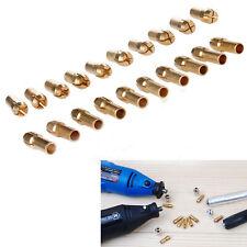 10x Laiton Collet Rotatif Dremel 0.5-3.2mm Pinces Ecrou Serrage Porte-embout NF