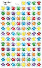 2500 Paw Prints School Teacher Reward Stickers - Great for Reward Charts