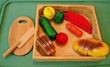 Melissa & Doug Cutting Food Play Set Wooden-Good quality set