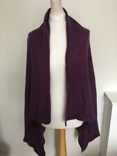 Monsoon Purple Waterfall Cardigan Medium With Mohair
