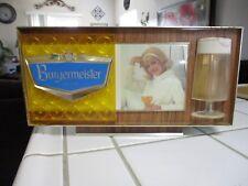 Vintage Burgermeister Barback Lighted Beer Display Light Box Sign Man Cave Decor