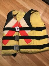 Vintage 1978 Gentex Lightning Life Vest Jacket Preserver Boat Swimming Safety