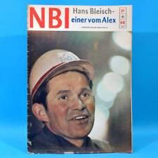 DDR NBI 21 1968 Täve Schur Alextunnel Artisten Bonn Mexiko DAMW Die Schmiere Q