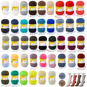 100g Regia >>UNI 4 FACH<< 53 Farben Sockenwolle Schachenmayr stricken