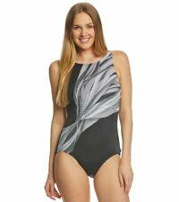 NEW!!! Reebok Women's Swimwear Modsquad High Neckline One Piece Swimsuit Sz: 18