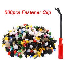500PCS Push Pin Mix Door Trim Panel Clip Fastener Bumper Rivet Retain & Tool Set
