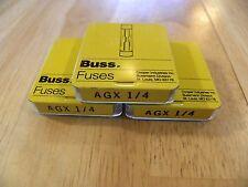 Cooper Bussmann AGX-1/4 New Old Storage Fuse Box 15 Pieces