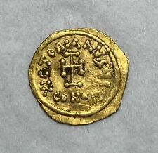 ANCIENT BYZANTINE GOLD COIN CONSTANS II - 641-688 AD. TREMISSIS - CHARMING!