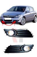 FOR OPEL VAUXHALL ASTRA H 2004-2007 NEW FRONT BUMPER FOG GRILLE TRIM PAIR SET