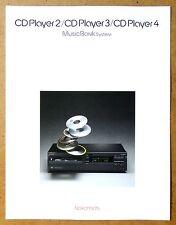 NAKAMICHI MusicBank CD Player 2, 3, 4 ~ Vintage Audio Brochure ~ Original ~ Engl