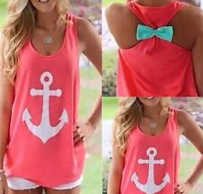 Fashion Women's Cute Summer Vest Top Sleeveless Blouse Casual Tank Tops T-Shirt