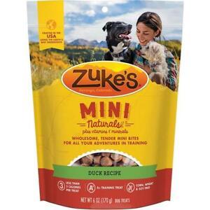 NEW Zuke's Mini Naturals Duck Tender Mini Bites Training Dog Treats 6 oz or 1 lb