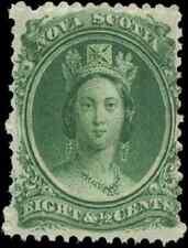 Nova Scotia #11 mint VF OG NH 1860 Queen Victoria 8 1/2c green CV$30.00