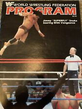 Vintage WWF Program