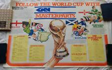 Original Vintage Poster Soccer World Cup Barcelona 1982 - Masterparts Car Parts
