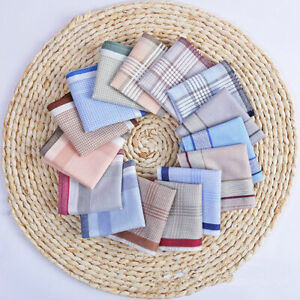 Bulk Sale Men 100% Cotton Large Handkerchief Soft Mens Hanky Pocket 38cm